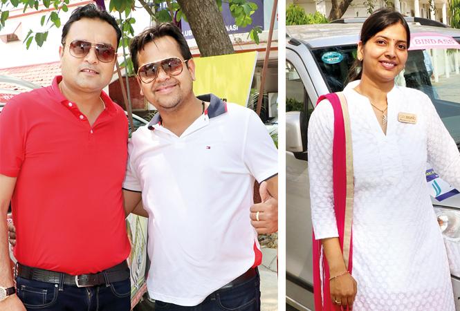 Varun Mundra and Amit Modi (R) Ankita Agrawal (BCCL/ Unmesh Pandey)