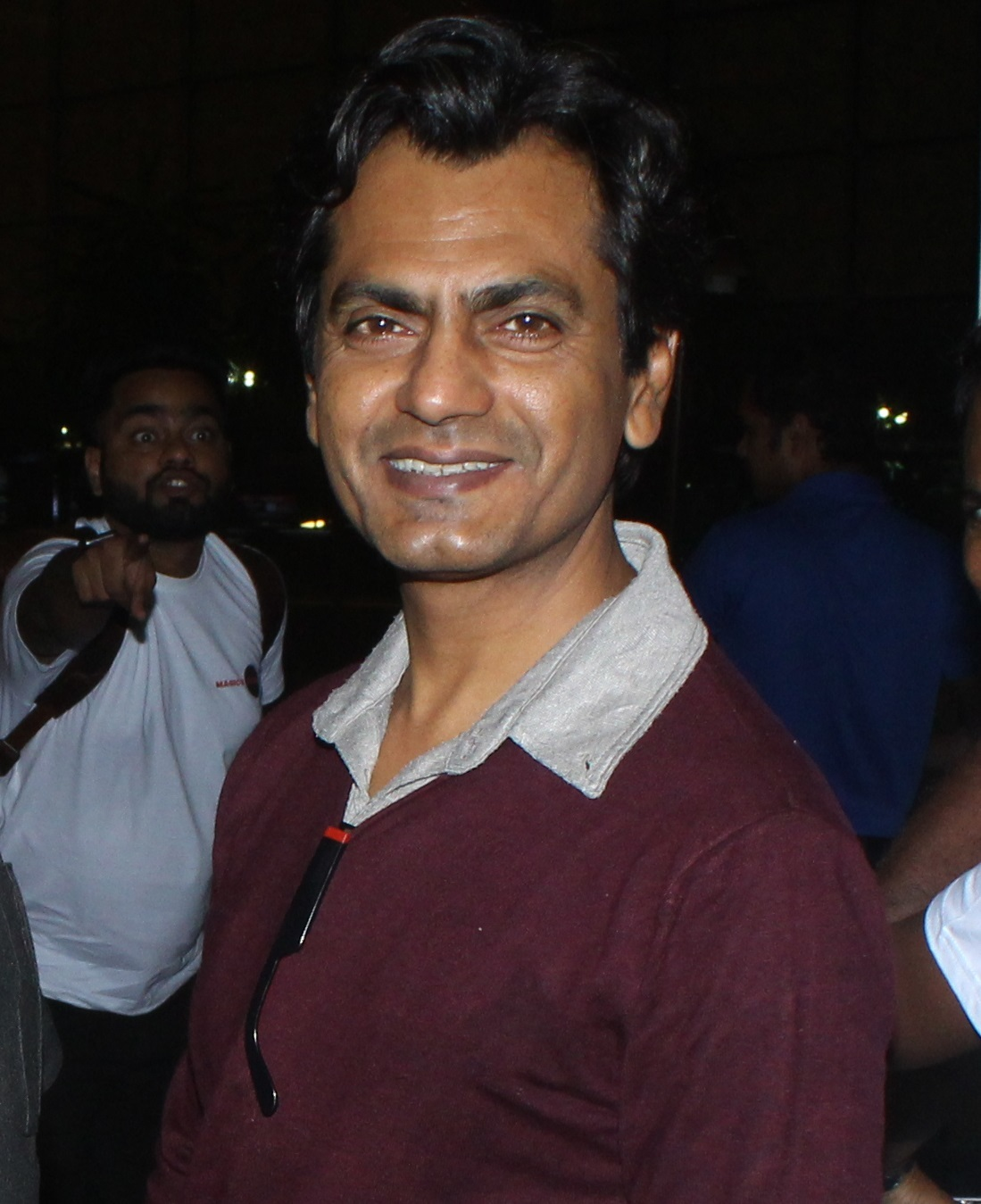 Nawazuddin Siddiqui at the airport. Photo: Yogen Shah