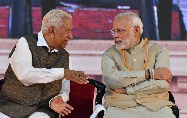 Governor Vajubhai Vala and PM Narendra Modi