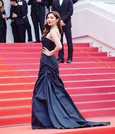 Actress Mahira Khan gave a debut at Cannes 2018