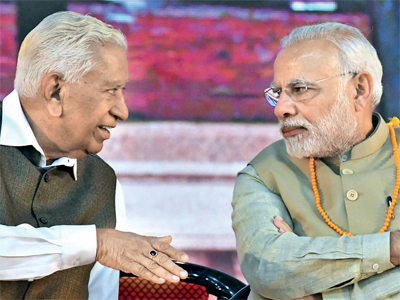 Vajubhai Vala with PM Narendra Modi