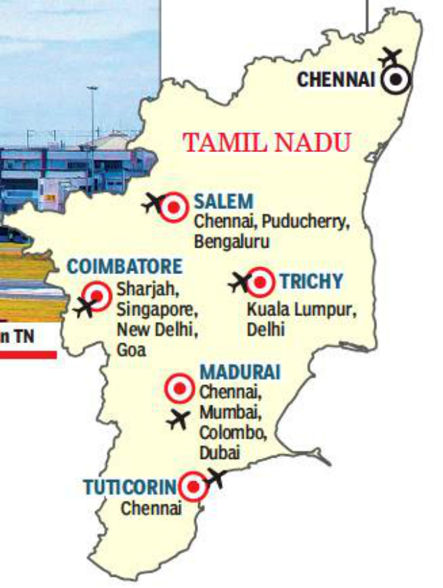 madurai airport location map Tamil Nadu Cruises To New Heights With Expansion Of Airports madurai airport location map