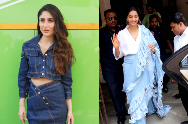 Kareena Kapoor's denim skirt or Sonam Kapoor's denim sari