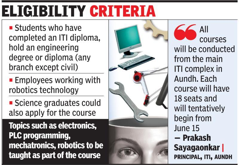 Robotics Mechatronics Iti Aundh First Centre In Country To Offer