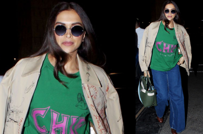 Deepika Padukone's burberry jacket