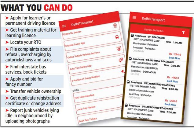 driving licence online apply in delhi