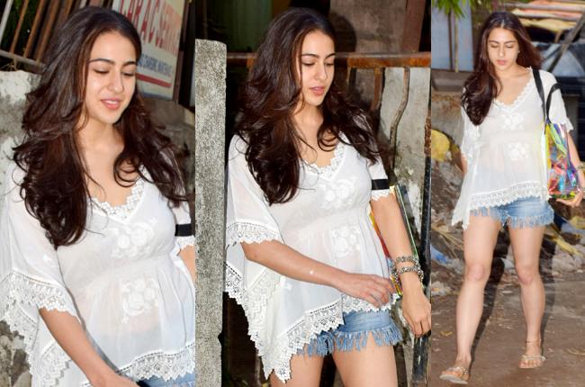 Sara Ali Khan shorts