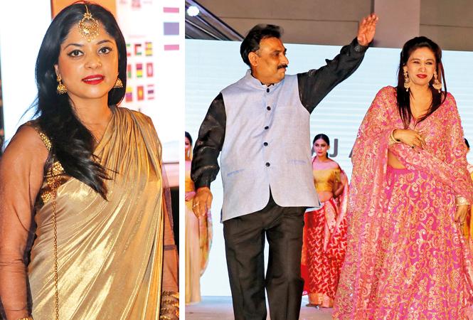 (L) Anu Vittal (R) Anurag and Sanjana Jon (BCCL/ Unmesh Pandey)
