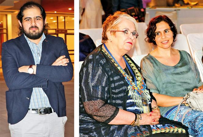 (L) Ali Al_ Jawarneh (R) Carol Hanlon and Naunia (BCCL/ Unmesh Pandey)
