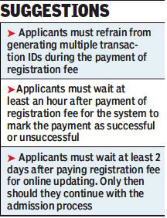 Online admission system leaves parents confused | Chandigarh News ...