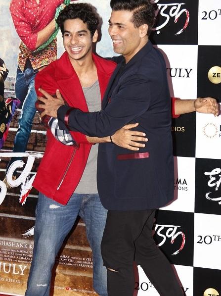 Producer Karan Johar with actor Ishaan Khatter. Photo: Yogen Shah