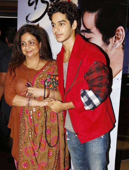 Ishaan Khatter and his mother. Photo: Yogen Shah