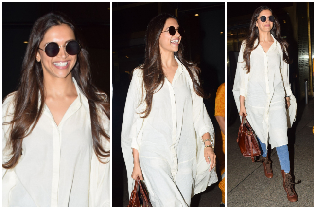 Deepika Padukone's white cape shirt