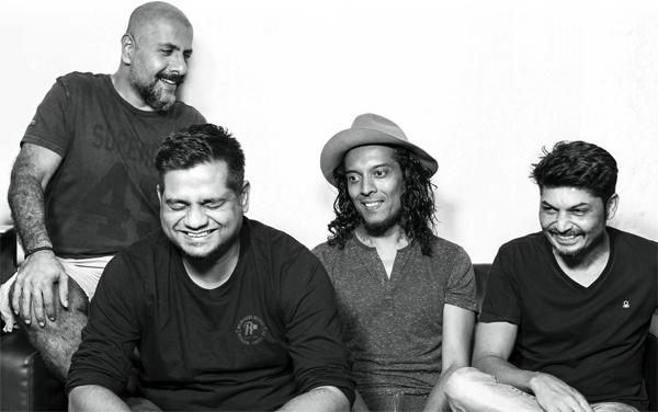 L-to-R: Vishal Dadlani, Papal Mane, Randolph Correia and Shiraz Bhattacharya