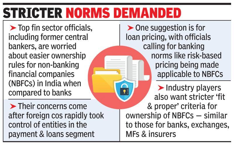 Foreign ownership of fin cos raises concern