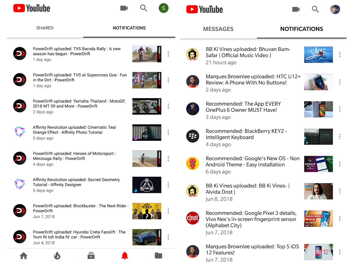 How is the youtube app implementing this tabs and bottom navigation
