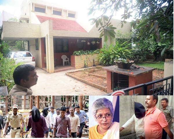 Writer-activist Gauri Lankesh was shot dead on September 5 last year ; Lankesh was killed while she was returning to her residence (above) in Bengaluru; Suchith Kumar and Amol Kale were also arrested for their alleged role in Lankesh's murder