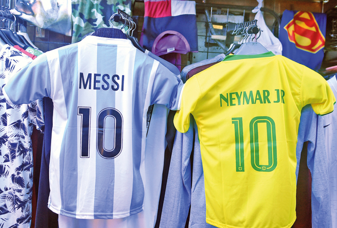 official photos f0778 770d7 Messi, Ronaldo and Neymar's jerseys most in demand at Delhi ...