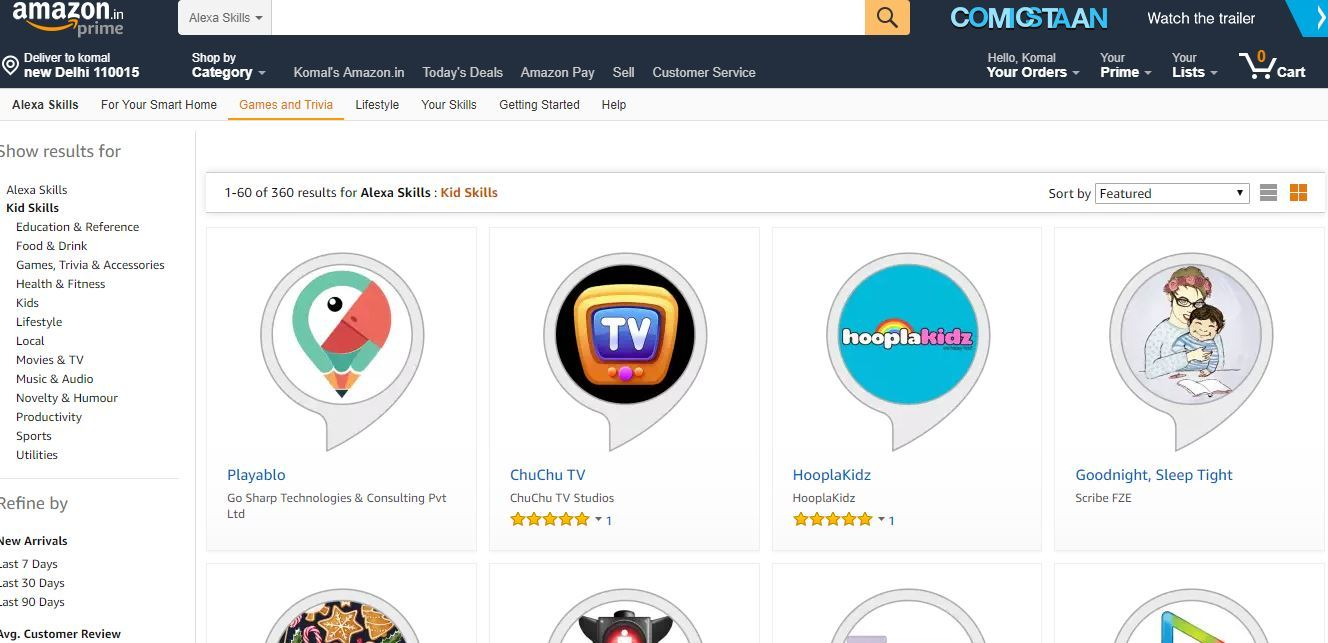 Amazon adds over 350 'Kid Skills' for Alexa in India