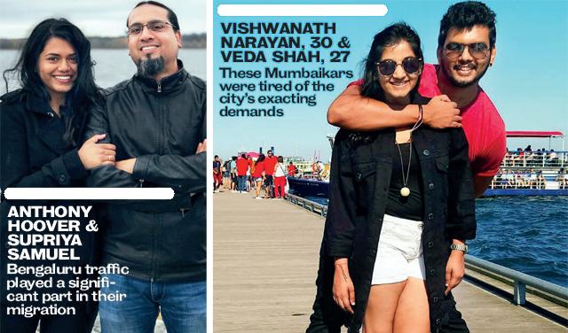 (L) Anthony Hoover & Supriya Samuel; (R) Vishwanath Narayan & Veda Shah