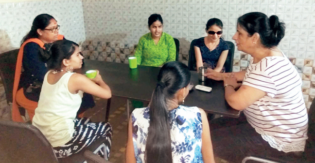 Preet Monga conducts training workshops for blind girls
