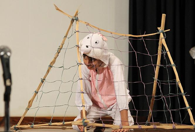 A scene from the play Gada Hua Khazana (BCCL)