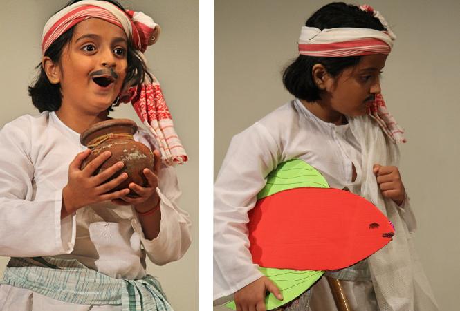 Scenes from the play Gada Hua Khazana (BCCL)