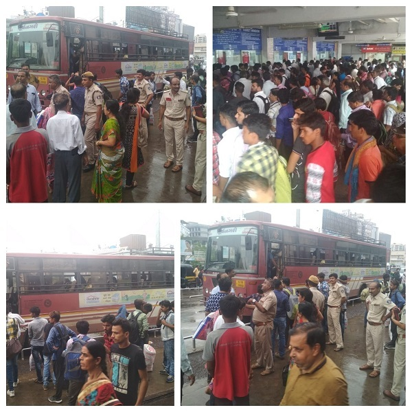 Scenes from Surat Railway Station