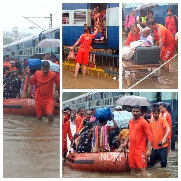 Scenes from the rescue operation in Nalasopara