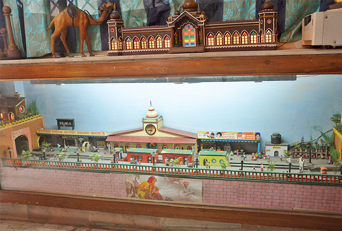 Model of Shimla railway station made by Gopal Khanna (BCCL/ IB Singh)
