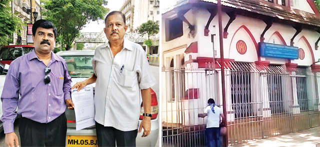 Left: The complainants. Above: The Victoria Garden Church, Byculla