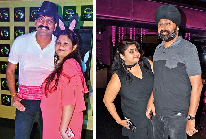 (L) Piyush and Ankita (R) Rozy and Ravi Singh (BCCL/ IB Singh)