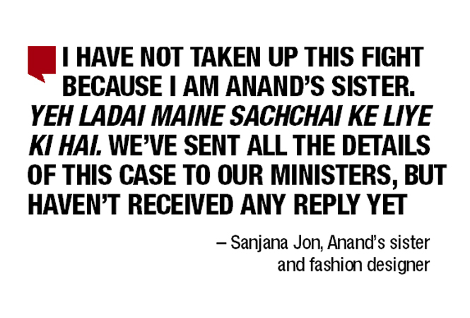 Help Us Bring Anand Back Sanjana Jon Appeals To Government Delhi News Times Of India