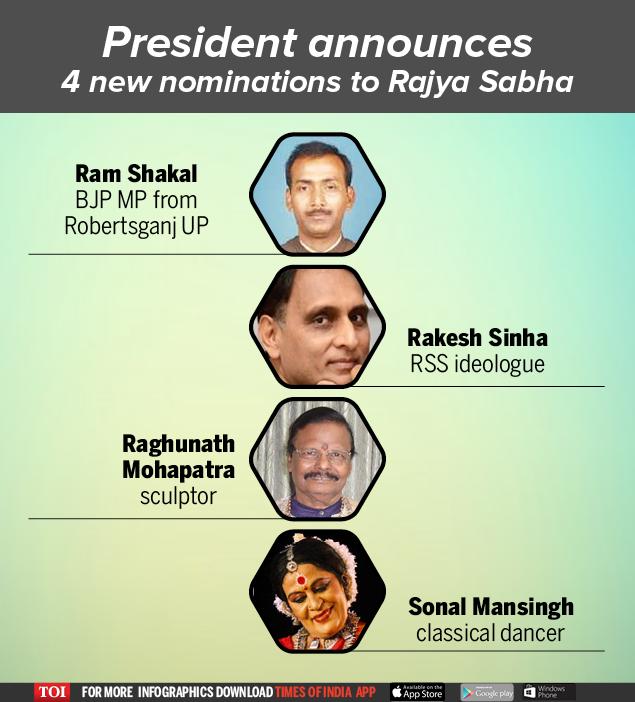 President announces  4 new nominations to Rajya Sabha