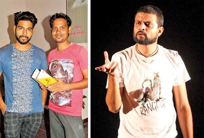 (L) Basant and Krishna (R) Ritvik Shridhar Joshi in a scene from the play Kaka Banarasi (BCCL/ Arvind Kumar)