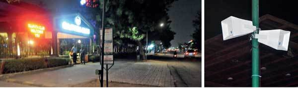 It was a breeze to drive through service road outside Rajpath Club