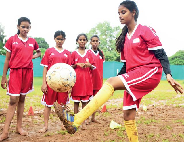Sadhna Daud lives in the Rajiv Gandhi Nagar slum, opposite the Dharavi Sports Complex (PIC: SATISH MALAVADE)