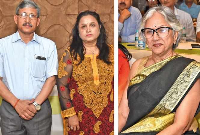 (L) Dr CM Nautiyal and Vinita Nautiyal (R) Dr Madhu Chaturvedi (BCCL/ Vishnu Jaiswal)