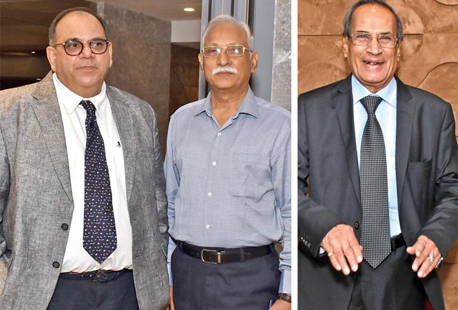 (L) Dr Shobhit Chawla and Gopal Chaturvedi (R) RN Bhargava (BCCL/ Vishnu Jaiswal)