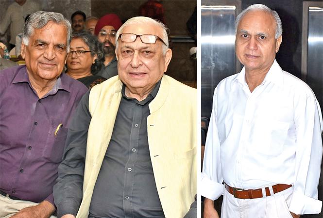 (L) MS Gulati and Mansoor Hasan (R) Ravi Bhatt (BCCL/ Vishnu Jaiswal)