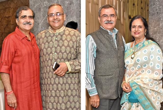 (L) Nisheeth Kapoor and Jayant Krishna (R) Ravi Kapoor and Dr Archana (BCCL/ Vishnu Jaiswal)