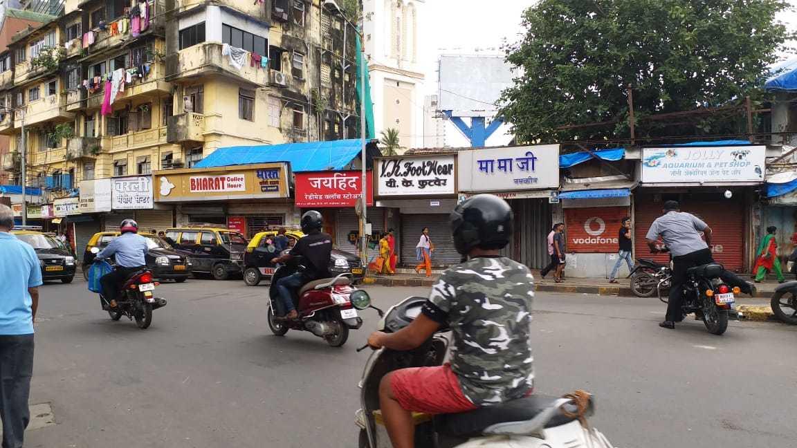 Shops shut shutters in Mumbai's Worli Naka area