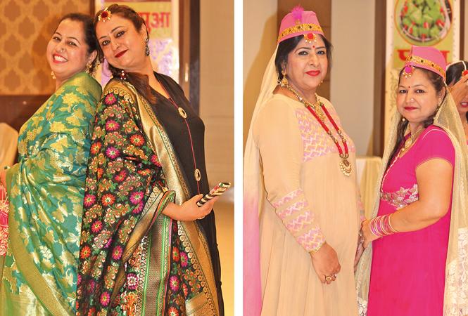 Saloni and Karishma (R) Vidya Peshwani and Harsha Bijlani (BCCL/ Arvind Kumar)