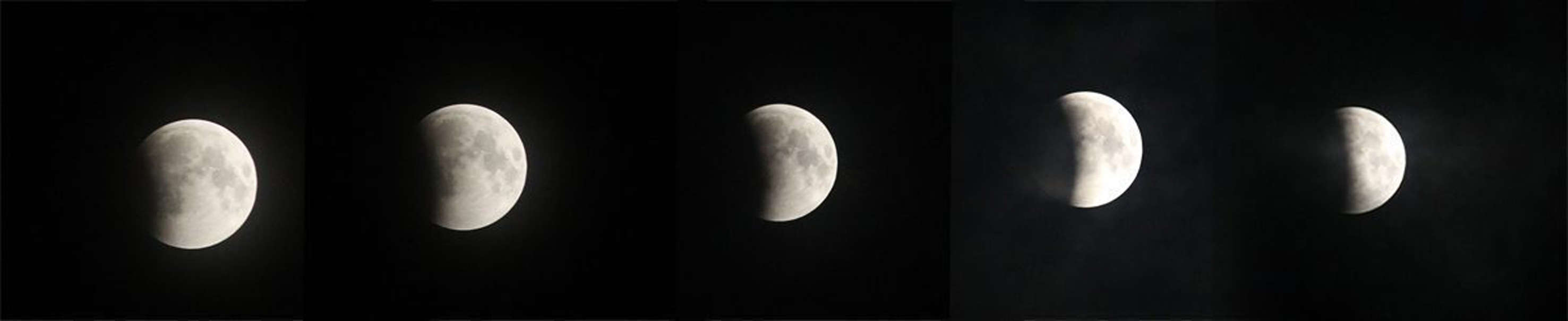 Lunar eclipse seen in Kozhikode. (PTI photo)