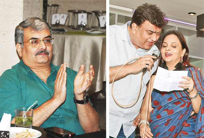 Shubh Mehrotra (R) Alok and Archana Dikshit (BCCL/ Farhan Ahmad Siddiqui)