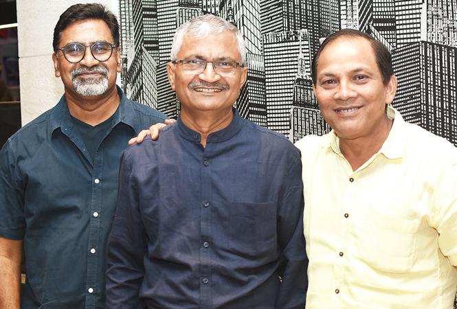 (L-R) Sudhir Srivastava, Deepak Dikshit and DS Negi (BCCL/ Farhan Ahmad Siddiqui)