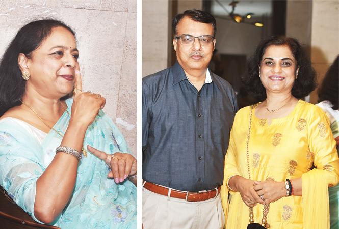 Jayashree Dhesi (R) Ashish and Poonam Mathur (BCCL/ Farhan Ahmad Siddiqui)