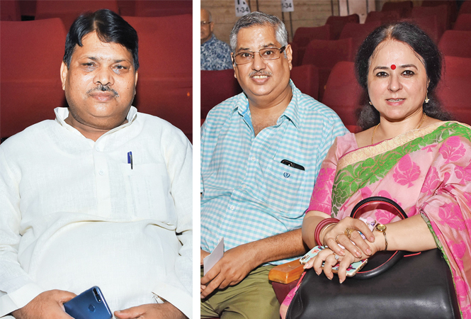 Achhe Lal Soni (R) Atul and Upma Chaturvedi (BCCL/ Farhan Ahmad Siddiqui)