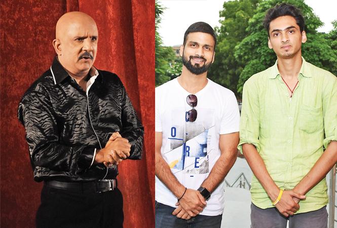 Rajesh Puri (R) Pankaj (L) and Vibhu Kaushik (BCCL/ Farhan Ahmad Siddiqui)