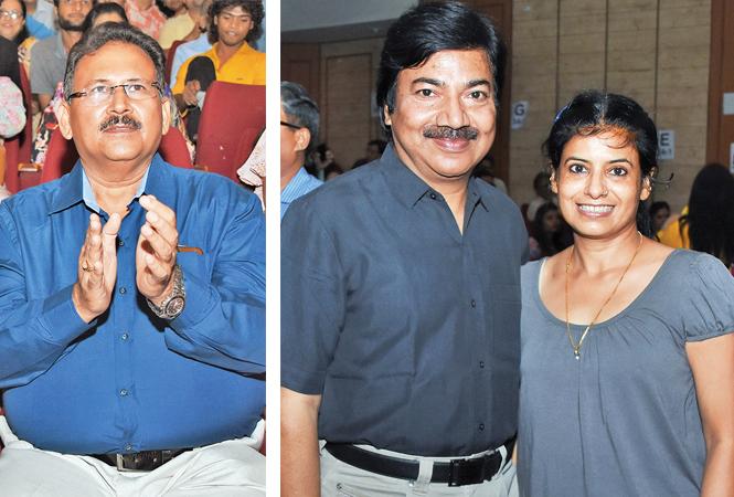 Ramesh Chandra Gupta (R) Tarun and Archana (BCCL/ Farhan Ahmad Siddiqui)